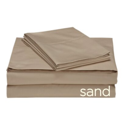 Valerie 618 Thread Count 100% Cotton Sheet Set Color: Sand, Size: Queen