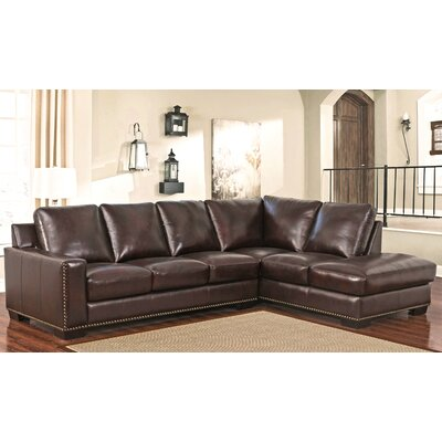 Jill Top Grain Leather Sectional
