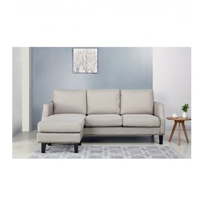 Lauren Reversible Sectional Upholstery: Light Gray