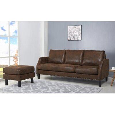Lauren Reversible Sectional Upholstery: Dark Brown