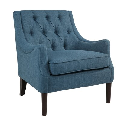 Cathy Armchair Upholstery: Teal Blue