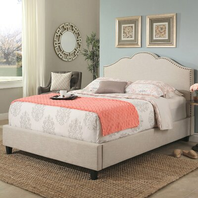 Deerfield Upholstered Wood Frame Panel Bed Size: Queen