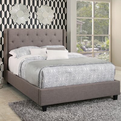 Erica Tufted Upholstered Platform Bed Size: King