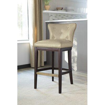 Beedle 30.25 Bar Stool (Set of 2) Upholstery: Off-White