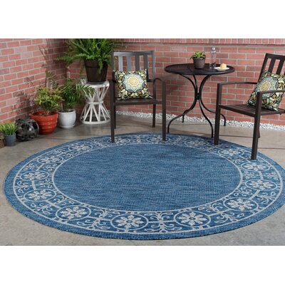 Veranda Traditional Indigo Indoor/Outdoor Area Rug Rug Size: 53 x 73