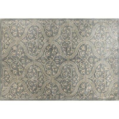Isabel Hand-Tufted Slate Area Rug Rug Size: 39 x 59
