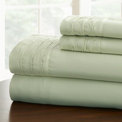 Gilead 1000 Thread Cotton Blend Count Sheet Set Color: Jade, Size: King