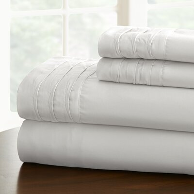 Gilead 1000 Thread Cotton Blend Count Sheet Set Size: Queen, Color: White