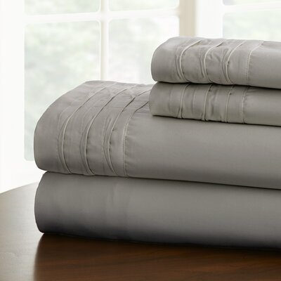 Gilead 1000 Thread Cotton Blend Count Sheet Set Size: California King, Color: Gray