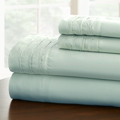 Gilead 1000 Thread Cotton Blend Count Sheet Set Color: Misty Blue, Size: Queen