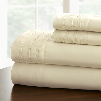 Gilead 1000 Thread Cotton Blend Count Sheet Set Size: Full, Color: Ivory