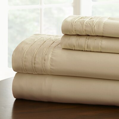 Gilead 1000 Thread Cotton Blend Count Sheet Set Size: Full, Color: Taupe