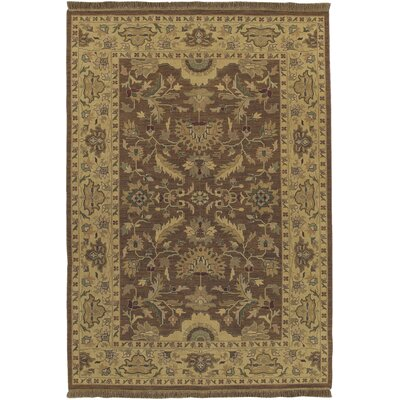 Baxter Brown/Olive Area Rug Rug Size: Rectangle 6' x 9'