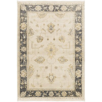 Sandy Beige/Olive Rug Rug Size: Rectangle 56 x 86