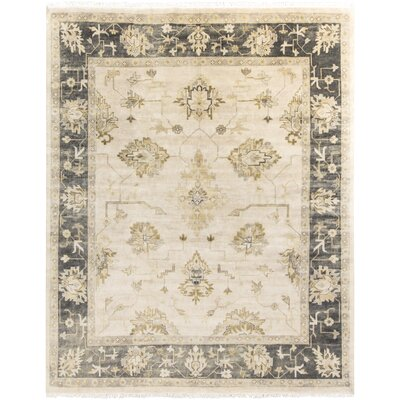 Sandy Beige/Olive Rug Rug Size: Rectangle 8 x 10