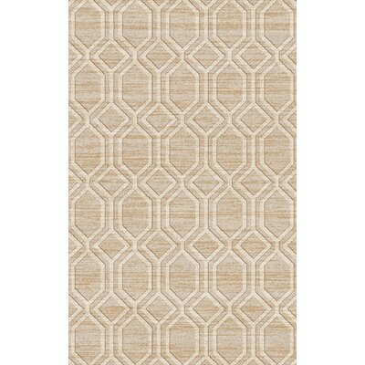 Limewood Beige & Ivory Area Rug Rug Size: Rectangle 5 x 8