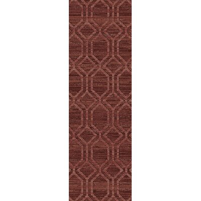 Limewood Burgundy/Chocolate Area Rug Rug Size: Rectangle 33 x 53