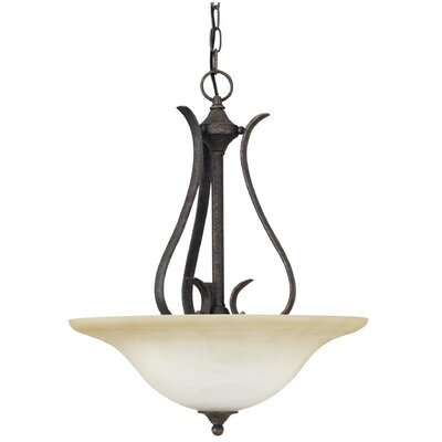 Corwin 3-Light Inverted Pendant Finish: Sable Bronze