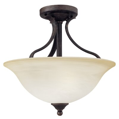 Corwin Traditional 2-Light Semi Flush Mount