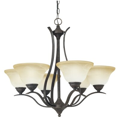 Corwin 6-Light Shaded Chandelier Finish: Sable Bronze