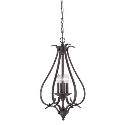 Jan 4-Light Foyer Pendant Finish: Sable Bronze