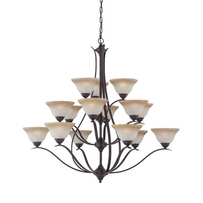 Jan 15-Light Shaded Chandelier Finish: Sable Bronze