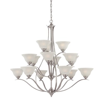 Corwin 15-Light Shaded Chandelier Finish: Brushed Nickel