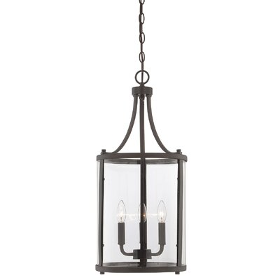 Lucien 3-Light Foyer Lantern Finish: English Bronze