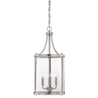 Lucien 3-Light Foyer Lantern Finish: Satin Nickel