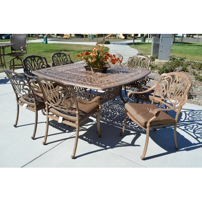 Kristy 9 Piece Dining Set with Cushions