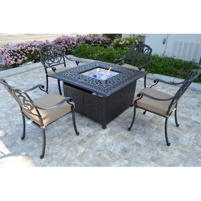 Kristy 5 Piece Seating Group with Cushion