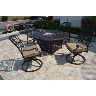 Kristy 5 Piece Rocker Seating Group with Cushion