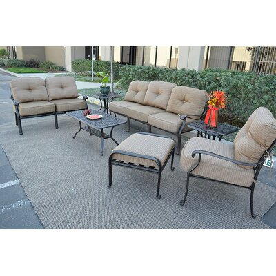 Kristy 7 Piece Deep Seating Group with Cushion