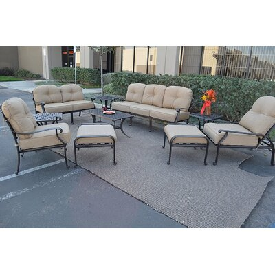 Kristy 10 Piece Deep Seating Group with Cushion