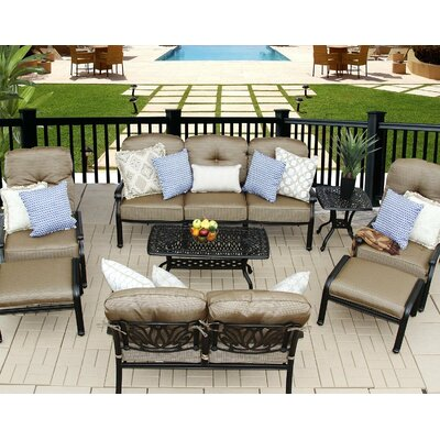 Kristy 8 Piece Deep Seating Group with Cushion