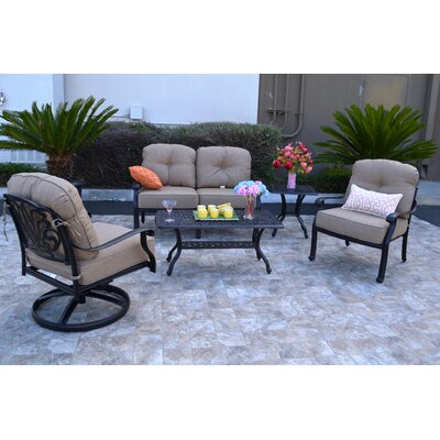 Kristy 5 Piece Deep Seating Group with Cushion