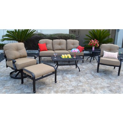 Sidney 6 Piece Antique Bronze Deep Seating Group with Cushion