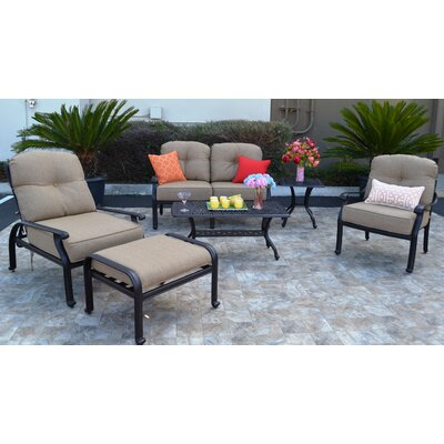 Sidney Sunbrella 6 Piece Deep Seating Group with Cushion