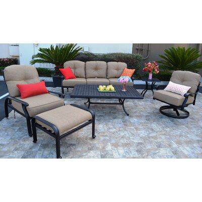 Sidney 6 Piece Deep Seating Group with Cushion