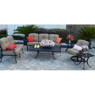 Sidney 6 Piece Bronze Deep Seating Group with Cushion
