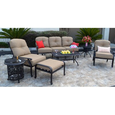 Sidney 7 Piece Deep Seating Group with Cushion