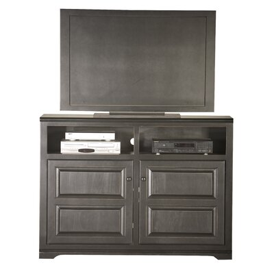 Verna 55 TV Stand Door Type: Wood, Color: Black
