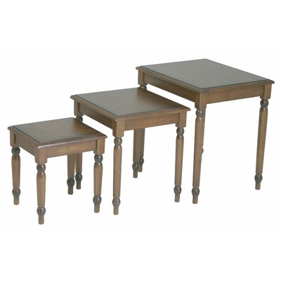 Jeannette 3 Piece Nesting Table Set