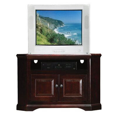 Verna TV Stand Finish: Caribbean Rum, Door Type: Wood