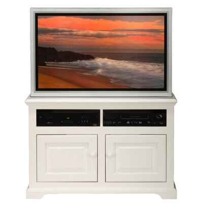 Verna TV Stand Finish: Bright White, Door Type: Wood