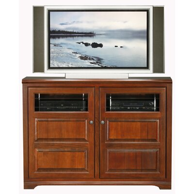 Verna 55 TV Stand Door Type: Glass, Color: Smoky Blue