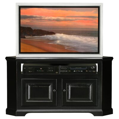 Verna TV Stand Finish: Black, Door Type: Wood