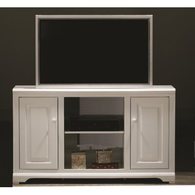 Verna 55 TV Stand Door Type: Wood, Color: Bright White, Door Style: Raised Panel