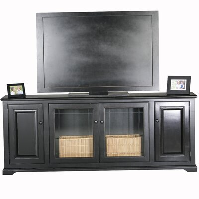 Verna 80 TV Stand Door Type: Glass, Color: Antique Black