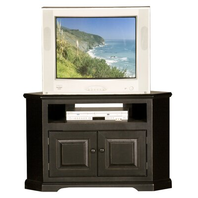 Verna 41 TV Stand Door Type: Wood, Color: Black